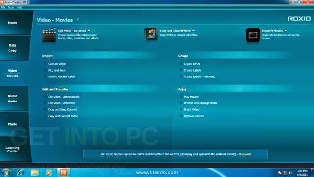 Roxio Creator Nxt Pro 3 Free Download