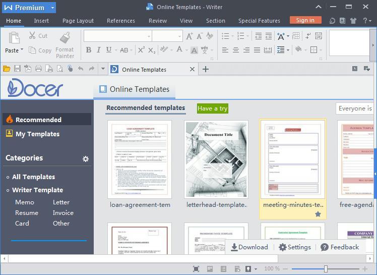 WPS Office 2016 Premium v10 1 0 5785 Multilingual Free Download