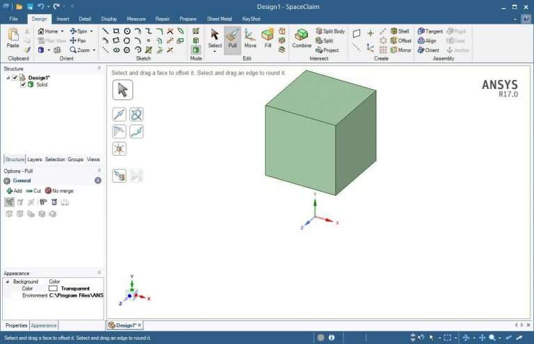 Download ANSYS SpaceClaim 2018 v19 x64 + Tutorials