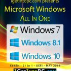 Windows 7 8.1 10 x64 (21in1) ISO May 2018 Download