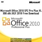 Microsoft Office 2010 SP2 Pro Plus VL X86 x64 JULY 2018 Free Download