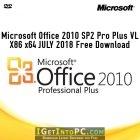 Microsoft Office 2010 SP2 Pro Plus VL X86 x64 JULY 2018 Free Download
