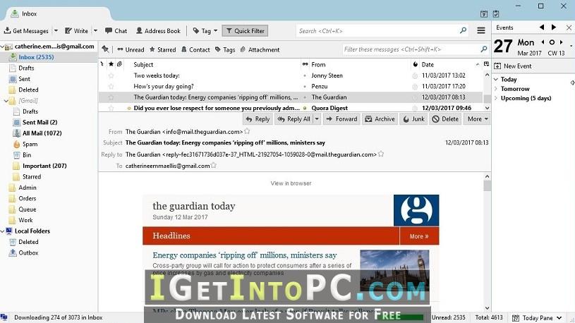 Mozilla Thunderbird 52 9 0 Offline Installer Free Download