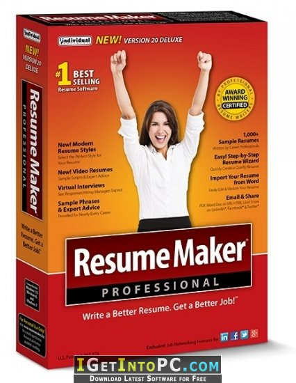 resumemaker professional deluxe 20 1 0 120 free download
