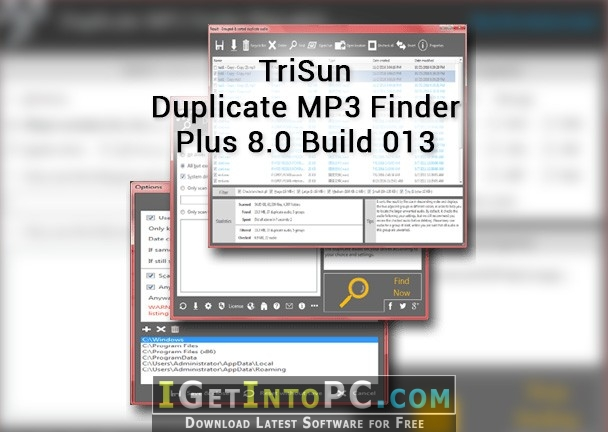 TriSun Duplicate MP3 Finder Plus 8 0 Build 013 Free Download