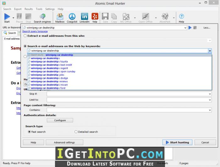 Atomic Email Hunter 14 4 0 371 Free Download