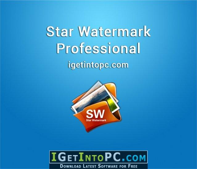 Star Watermark Professional 1 2 3 Free Download