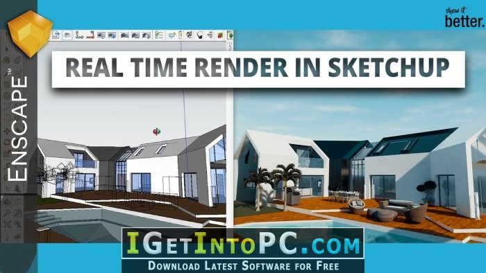 Enscape3D 2 3 2 703 for Revit SketchUp Rhino ArchiCAD Free Download