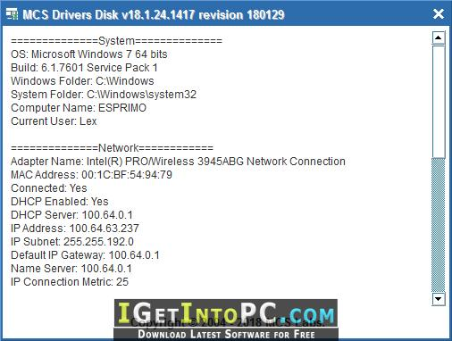 MCS Drivers Disk 18 08 10 1451 Free Download