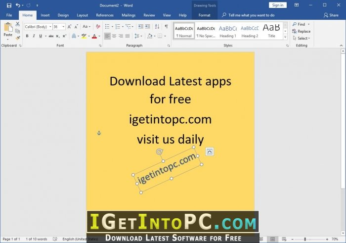 microsoft office 2019 september 2018 free download