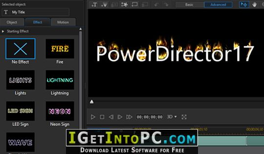 PowerDirector 17 free download