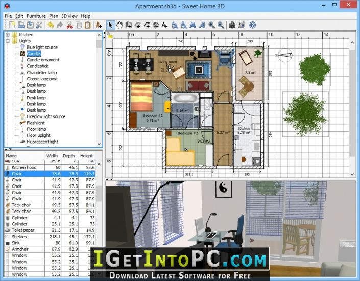 Sweet home 3d 6 free download for Sweet home 3d gratis