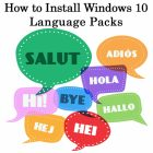 How to Download and Install Windows 10 Language Pack