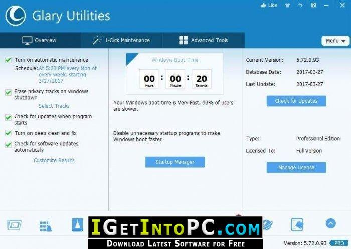 Glary Utilities Pro 5 111 0 136 Free Download