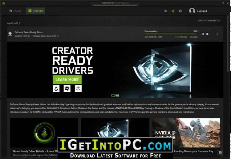 NVIDIA GeForce Desktop Notebook Graphics Drivers 419 67 Free Download