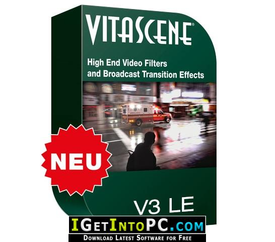 Prodad vitascene v3 professional transitions and filter effects.