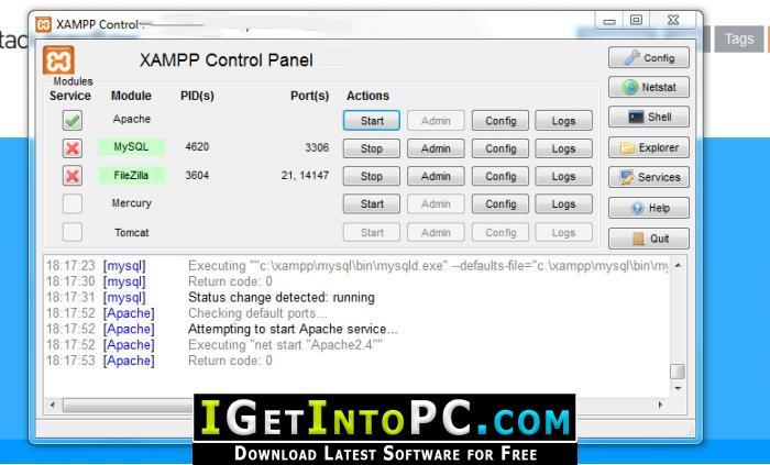 xampp 64 bit download for windows 7
