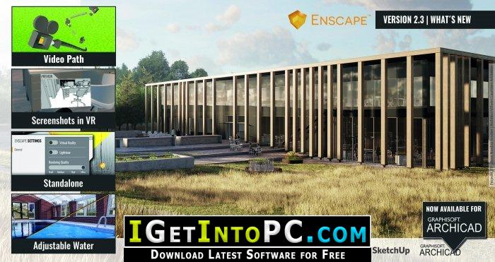 Enscape3D 2 5 1 9 for Revit SketchUp Rhino ArchiCAD Free