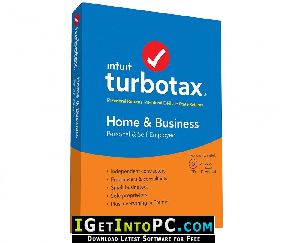Intuit TurboTax Home And Business 2019.41.24.240 Free Download